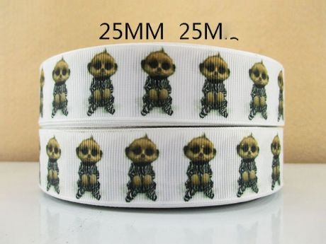 1 METRE BABY OLEG SAFARI MEERKAT RIBBON SIZE 1 INCH HEADBANDS BOWS BIRTHDAY CAKE CLIPS